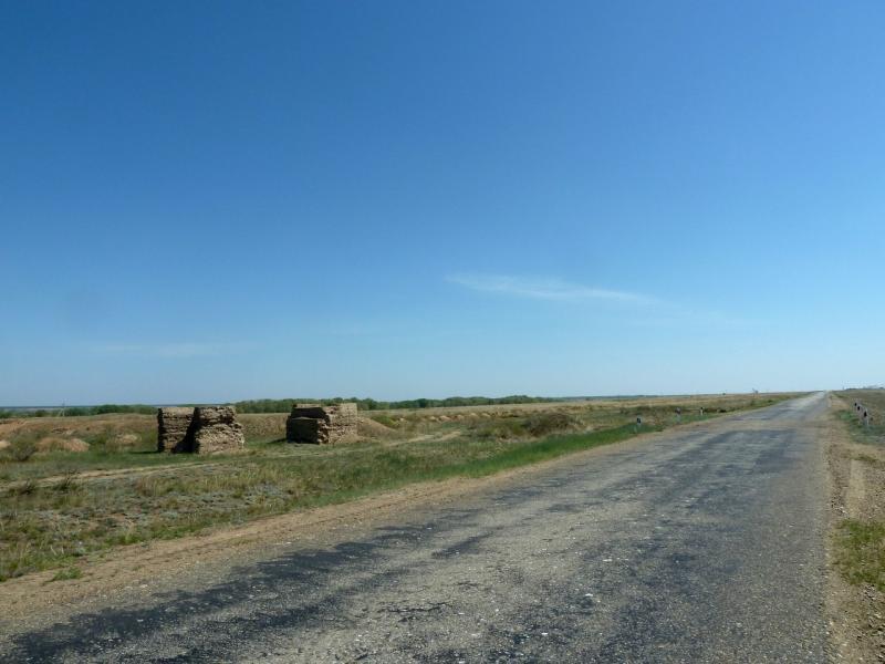 20120512. Из Курчатова к соснам: дорога Павлодар-Семипалатинск.