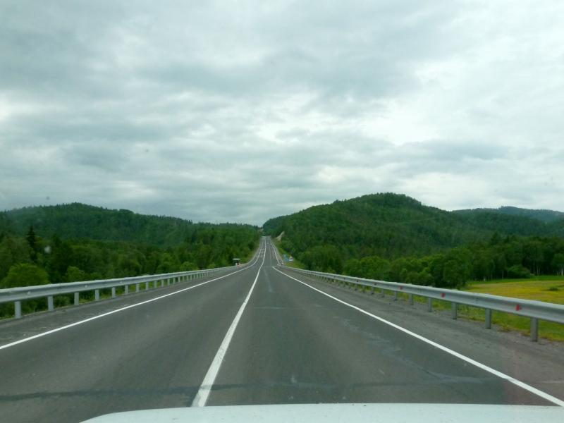 20180622. Новейшее шоссе вдоль хребта Шиманская грива, над речкой Култучная.