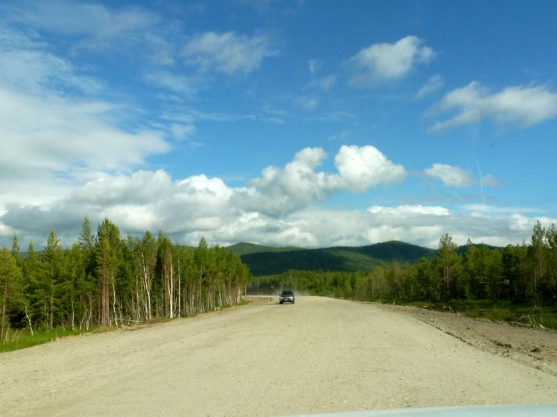 20180624. Строящийся участок автодороги, в районе озера Духовое.