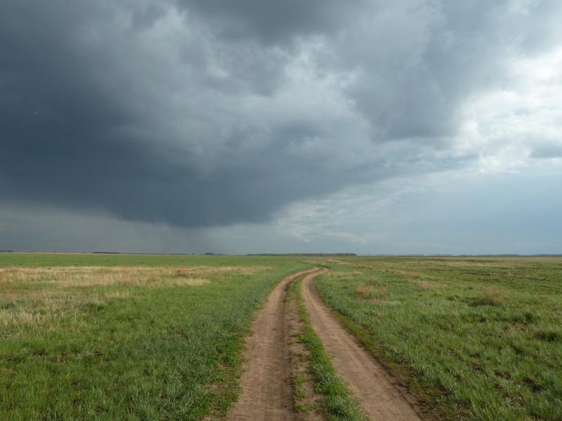 20120518. Успенскими окраинами: грунтовая дорога вдоль урочища Карасук.