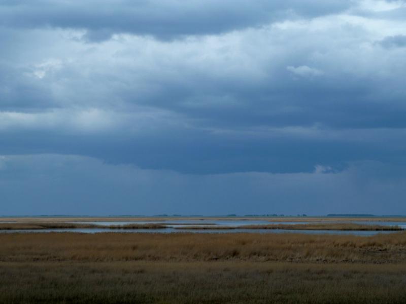 20120518. Успенскими окраинами: вид на солёное озеро Карасук.