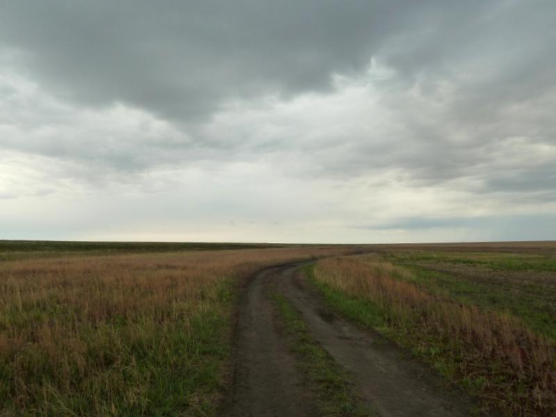 20120518. Успенскими окраинами: дорога в глубину урочища Карасук.