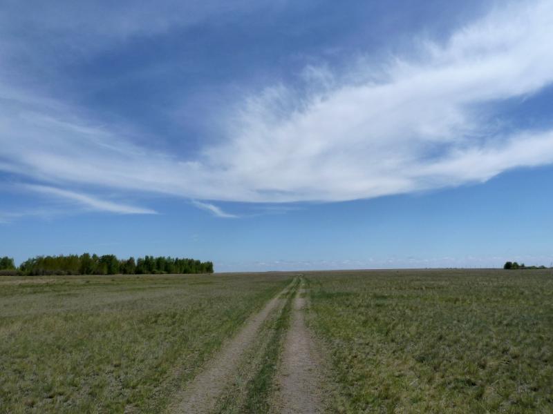 20120522. Сухопутным полуостровом: просёлок Озёрное-Джамбул.
