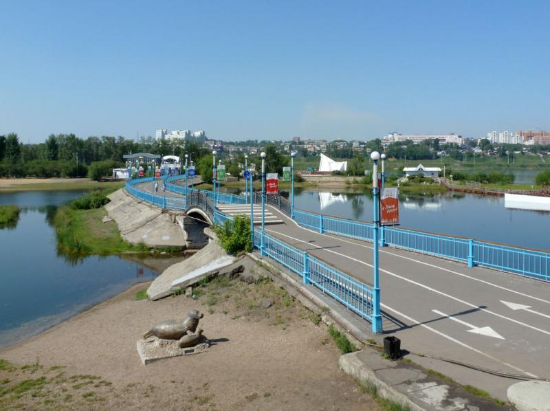 20180627. Иркутск. Пешеходный мост на остров Юность.