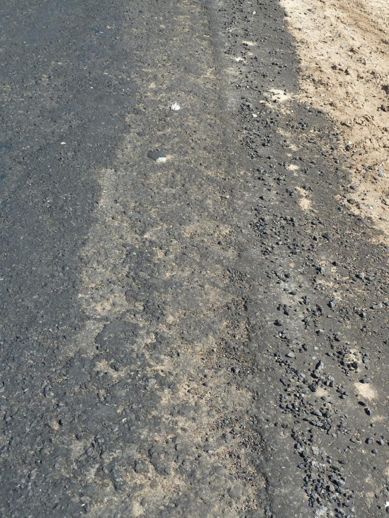 """20120525. Домой, в Павлодар: типичное состояние дорог после """"ремонта"""" в Актогайском районе."""