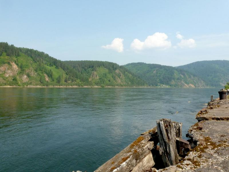 20180628. У останков пристани у правого берега Енисея, ниже Автодорожного моста.