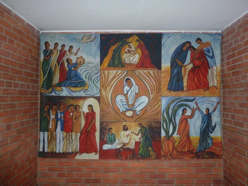 20120613. Павлодар. Фреска в католическом соборе.