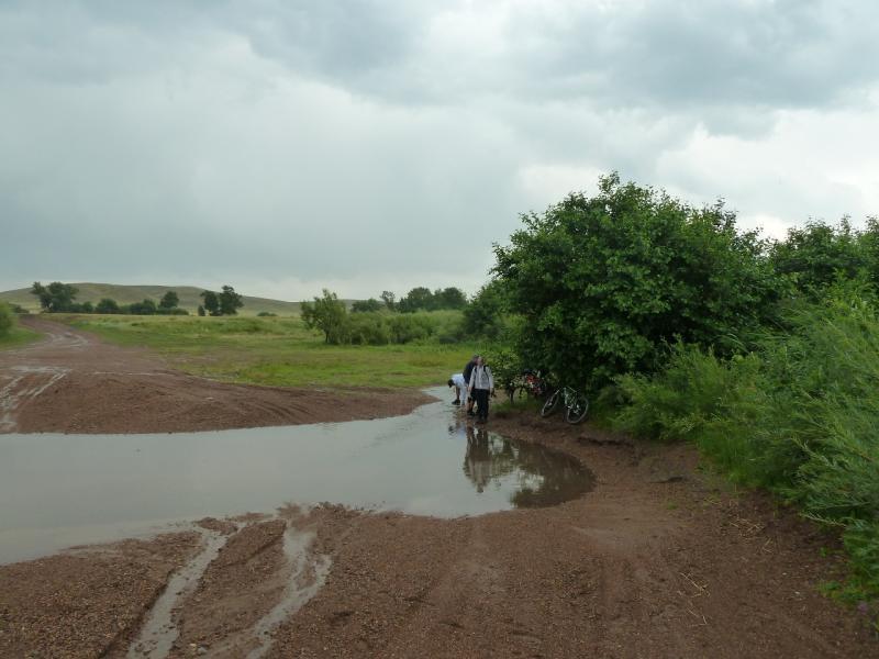 20120630. Баймен-2012: брод через речку Мойылды у Ольгинки.