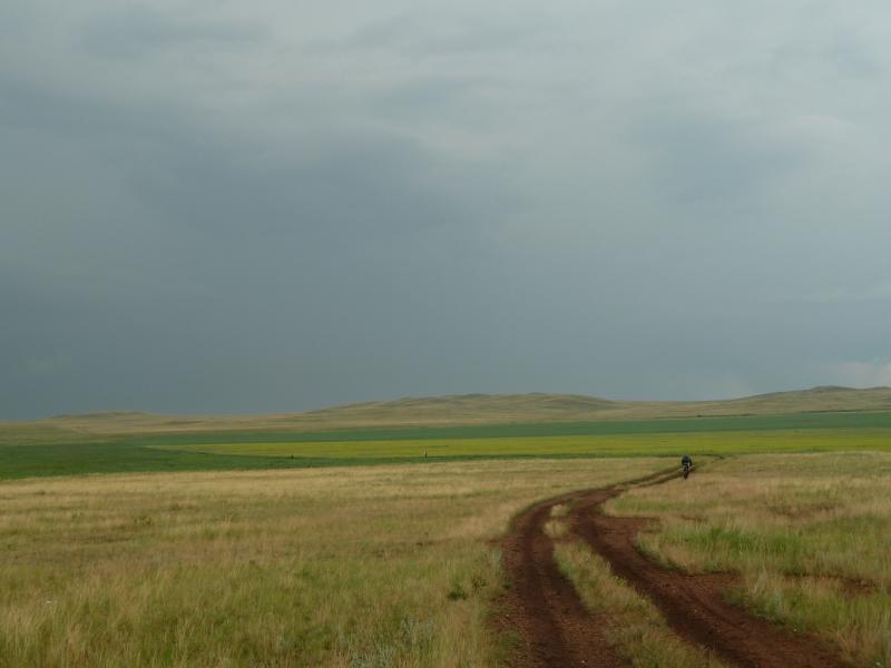 20120630. Баймен-2012: дорога от Ольгинки в предгорья Ерейментау.