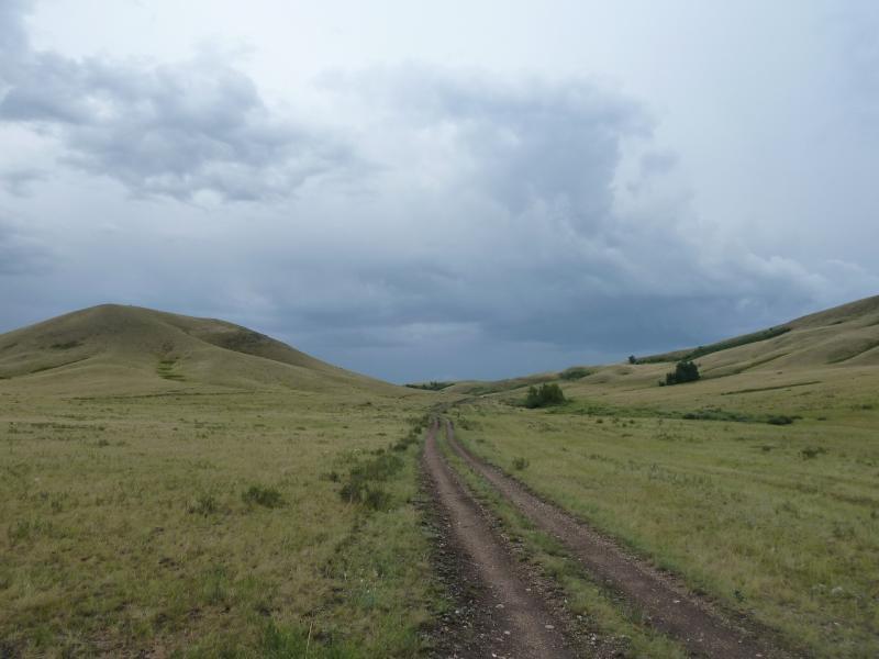 20120630. Баймен-2012: подъём в горы Ерейментау, от Орнека.