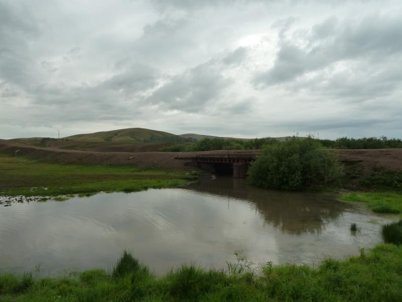 20120630. Баймен-2012: мост через русло речки Шайтанды у села Новокаменка.