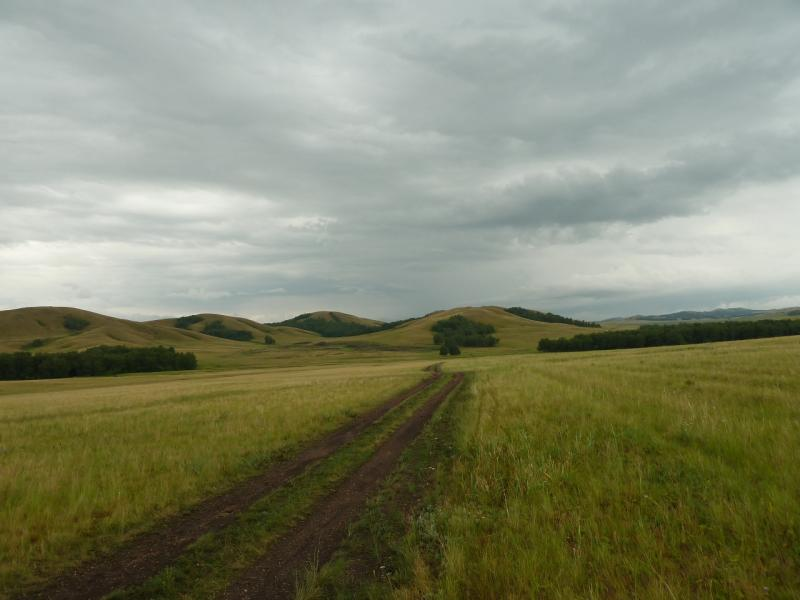 20120630. Баймен-2012: дорога от Новокаменки к Баймену.