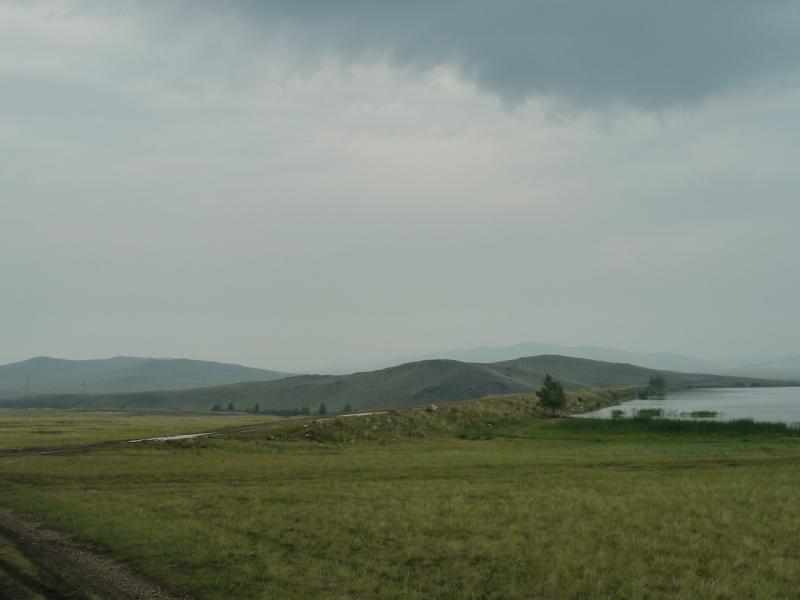 20120701. Баймен-2012: вид на плотину Байменского водохранилища.
