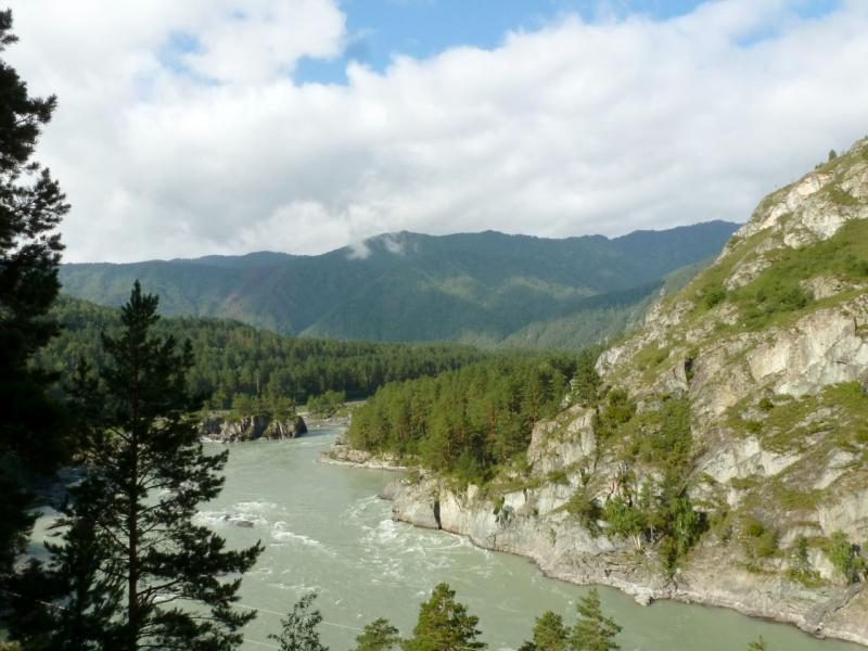 20180806. Вид на место слияния рек Чемал и Катунь.