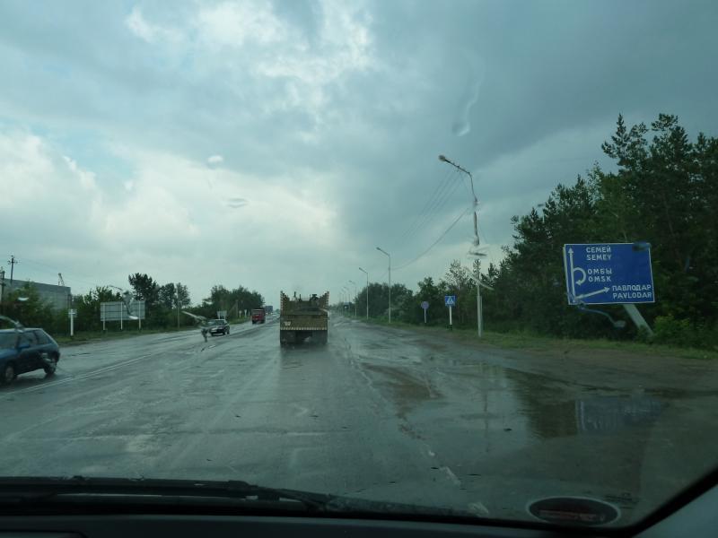 20120703. Астана-Павлодар: въезжаем в Павлодар.