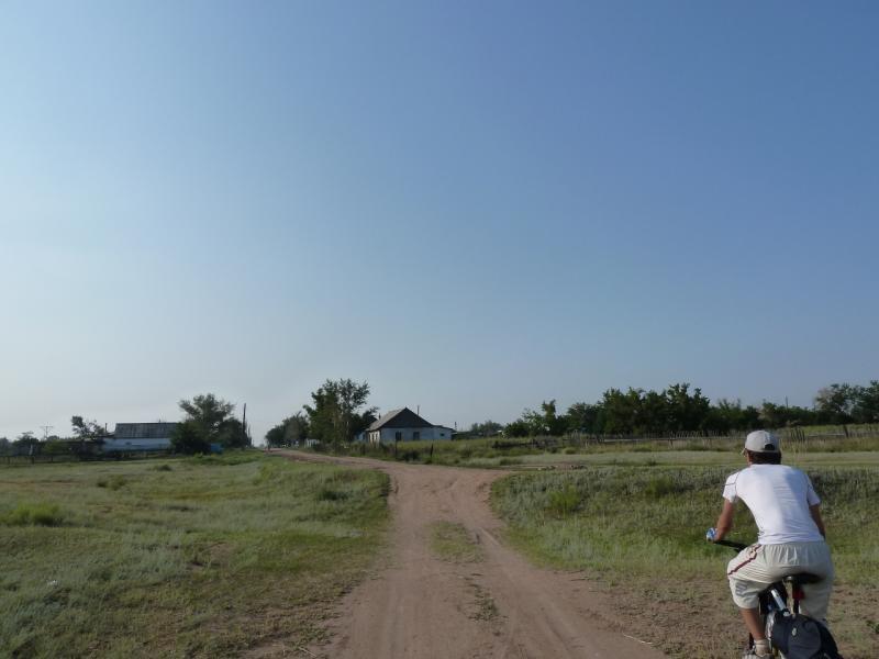 20120715. Павлодар-Аксу: въезд в село Айдаколь.