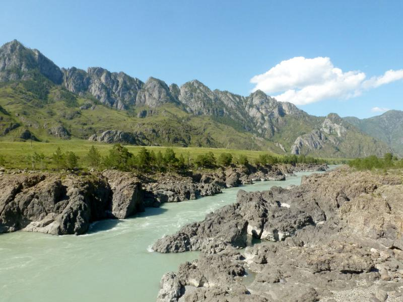 20180806. Тельдекпенские пороги на реке Катунь, в южной четверти Чемальского ущелья.