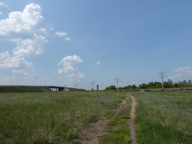 20120715. Аксу-Павлодар: тропа через пустырь у промышленной зоны посёлка Аксу.