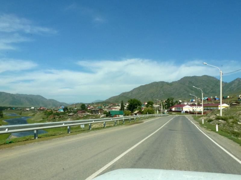 20180807. На въезде в село Онгудай.