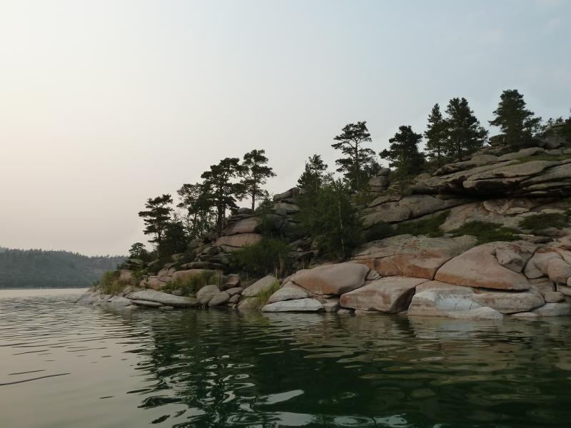 20120725. У острова Змеиный на озере Джасыбай.