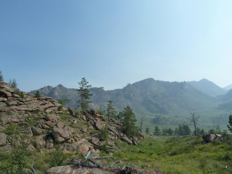 20120725. Что-то вроде туристической тропы в окрестностях озера Жасыбай.