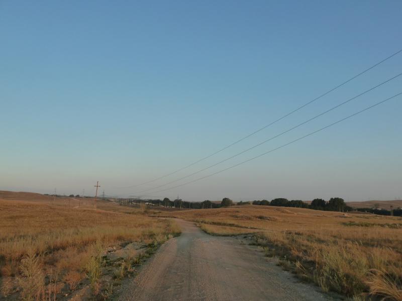 20120804. Выезжаем из посёлка Ерейментау, на восток.