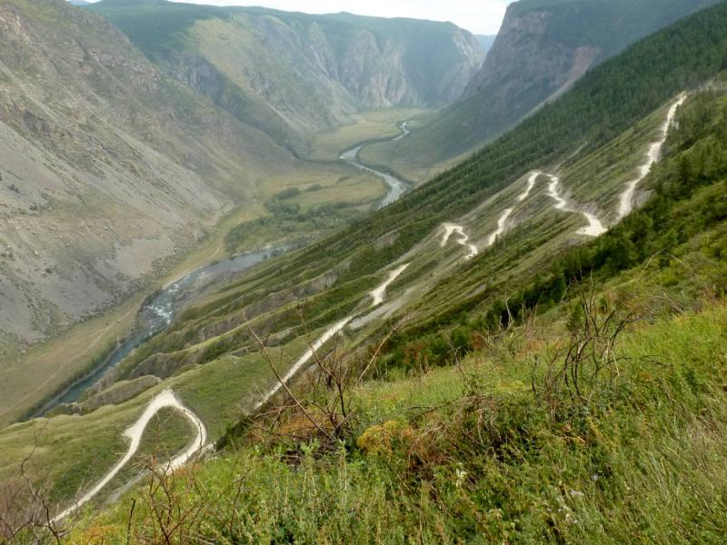 20180808. Вид сверху на перевал Кату-Ярык.