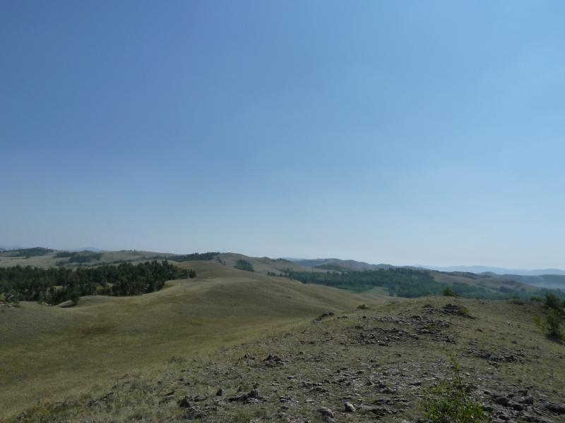 20120804. Там, вдалеке, наша цель - озеро Жартас.