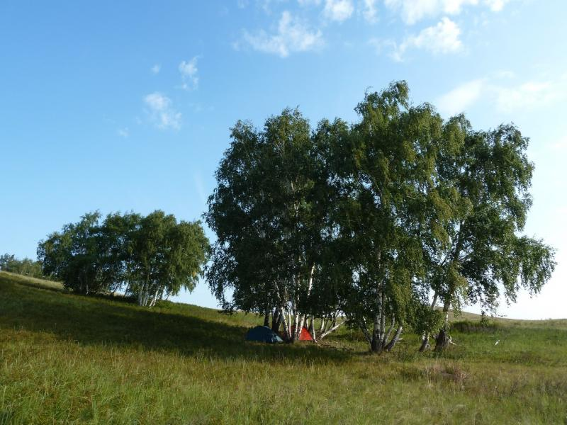 20120805. Вид на нашу стоянку в горах Ерейментау.