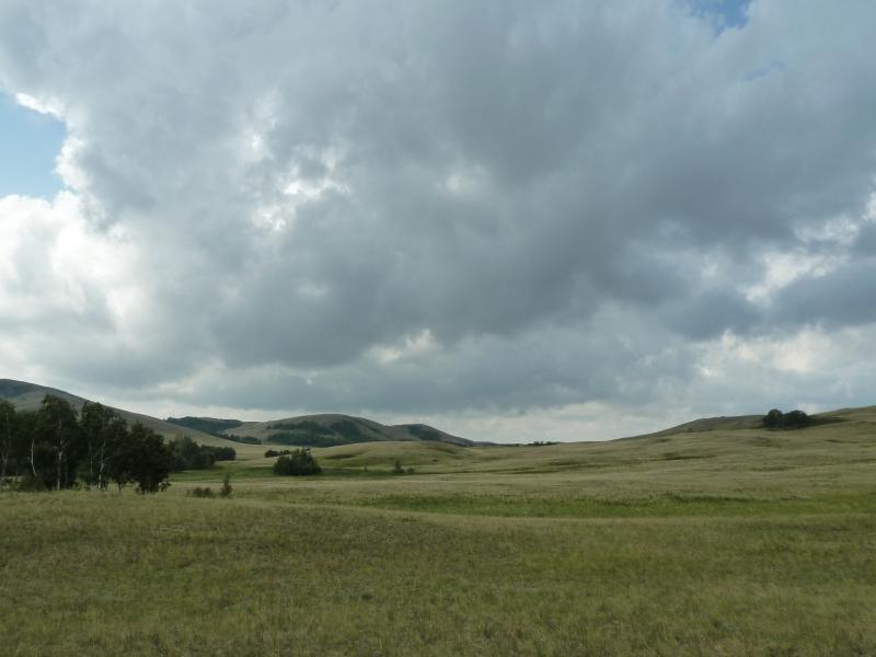 20120805. Пейзаж гор Ерейментау в районе села Баймен.