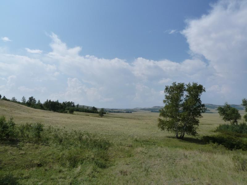 20120805. Выход с перевала в долину села Баймен.