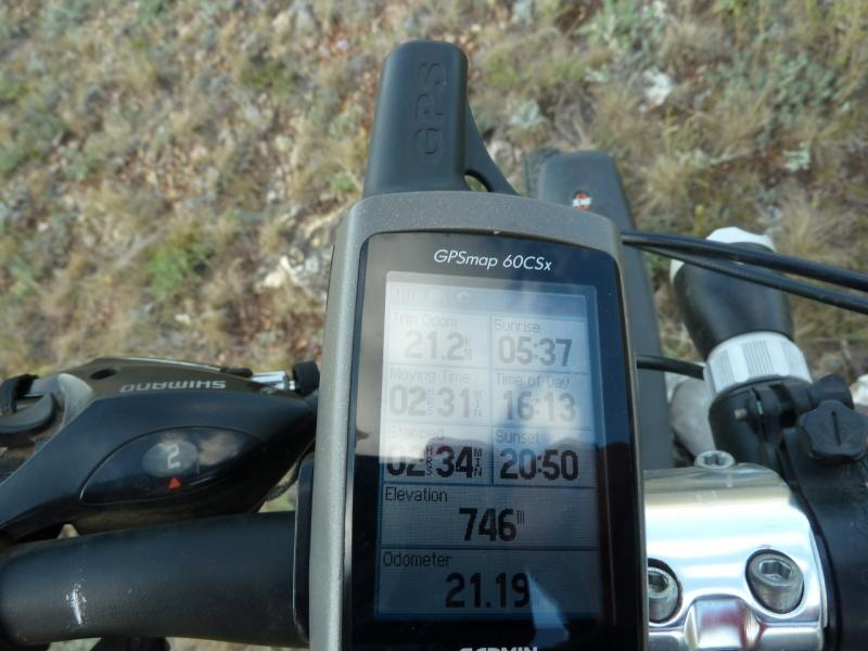20120805. Показатели высоты над уровнем моря второй горки.