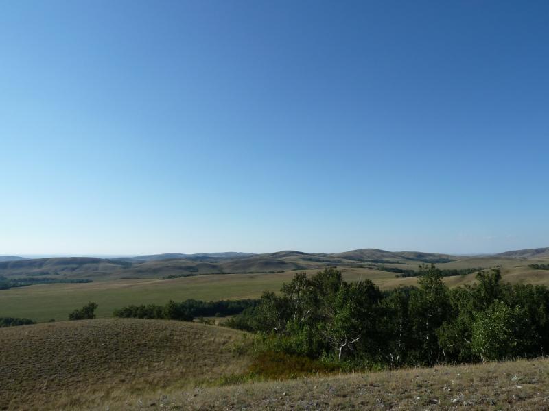 20120805. Ложбинка на склоне горы неподалеку от села Ленинское.
