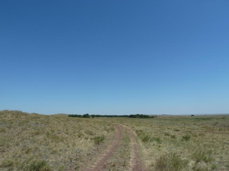 20120806. Дрога отклоняется от намеченного маршрута всё левее и левее.