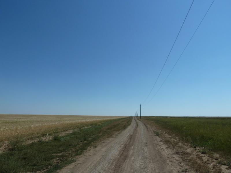 20120806. Дорога Ахметаул-Тельмановское.