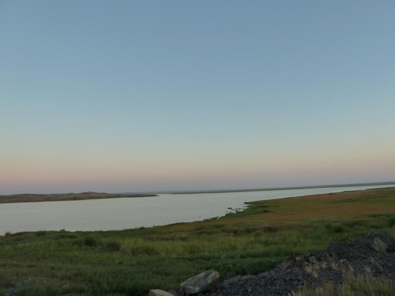 20120806. Вид на водохранилище гидроузла #11.