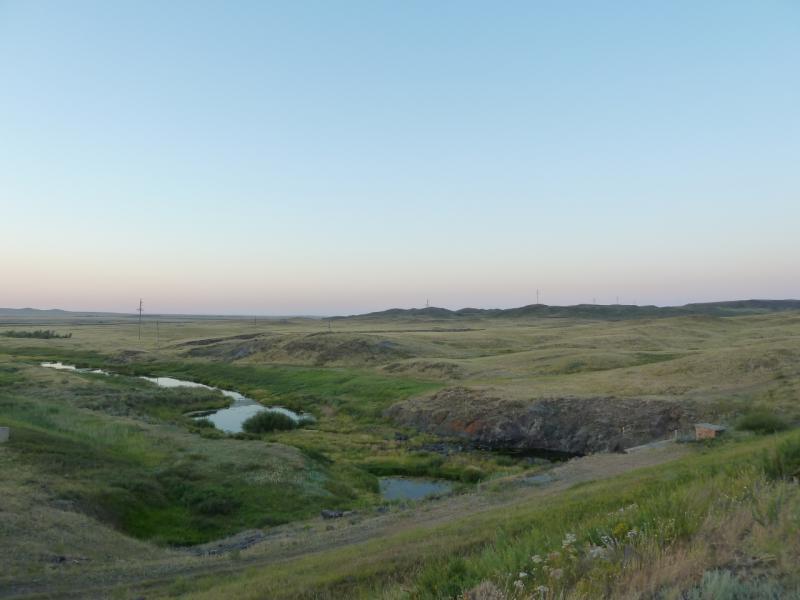 20120806. Русло реки Щидерты ниже плотины водохранилища гидроузла #11.
