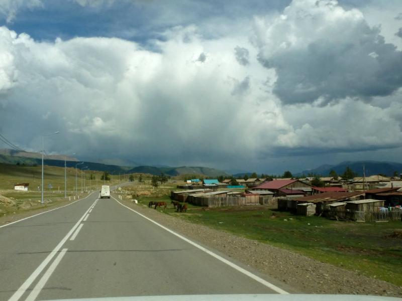 20180810. Вид на село Курай.