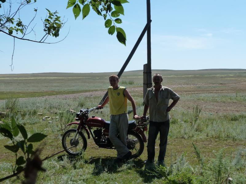 20120807. У села Щидерты (Карагандинской области).
