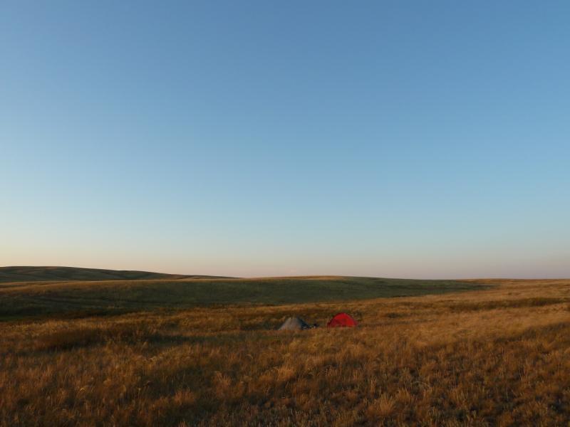 20120808. Место нашей стоянки, за десять километров до посёлка Ульяновский.