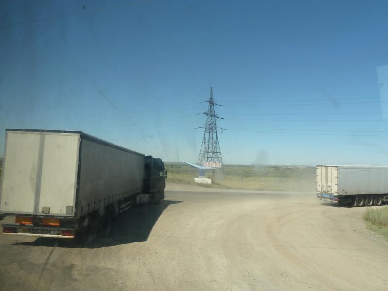20120809. Въезд в Караганду. Направо - трасса Караганда-Павлодар.