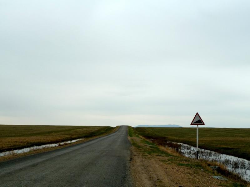 20130423. Один из подъёмов в предгорьях Баянаула.