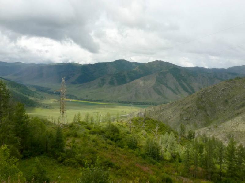 20180814. Вид с перевала Чике-Таман, в долину реки Малый Ильгумень.