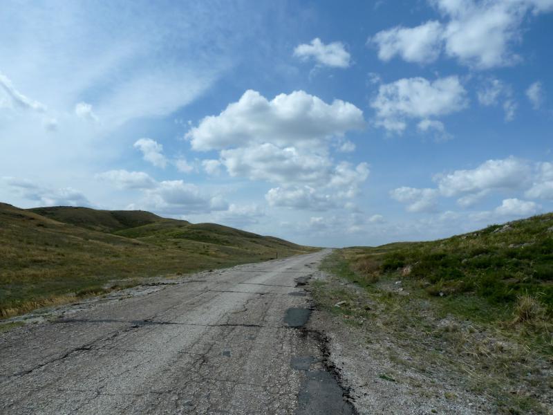 20130424. Дорога от трассы P-175 к посёлку Торайгыр.