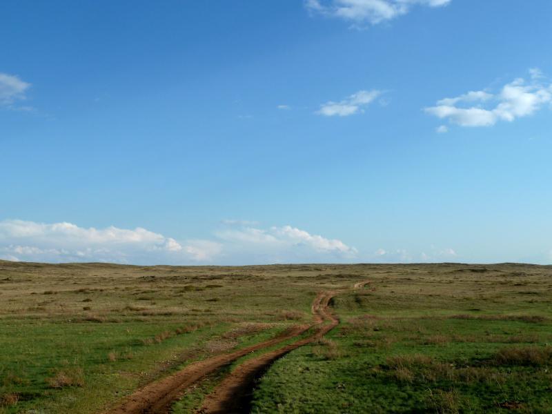 20130425. В холмах гор Жаксы-Сарытау, за пять километров до села Южное.