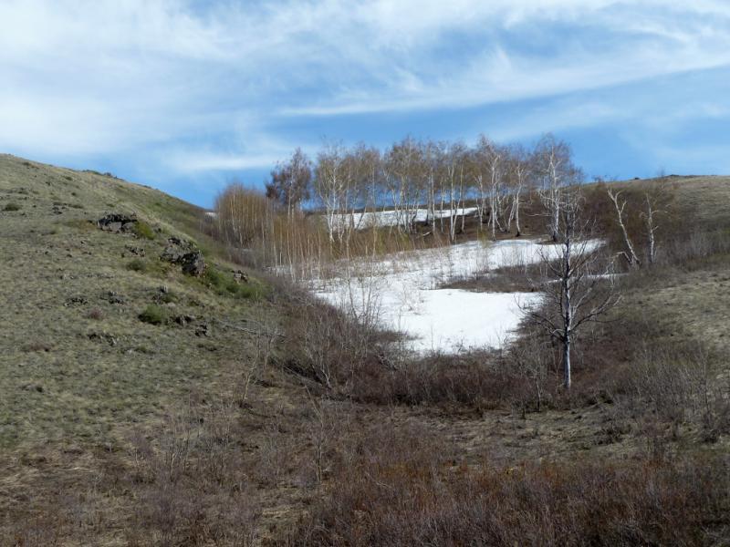 20130426. У дороги через горы Желтау, неподалеку от села Сарт.