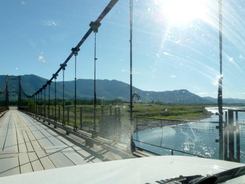 20180815. Подвесной мост через реку Катунь, к селу Мульта.