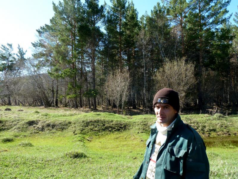 20130501. Али, сотрудник лесной охраны Каркаралинского заповедника.
