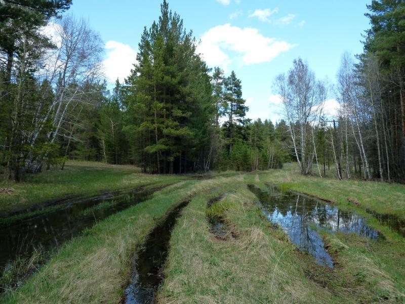 20130501. Подтопленная дорога в Каркаралинском заповеднике.
