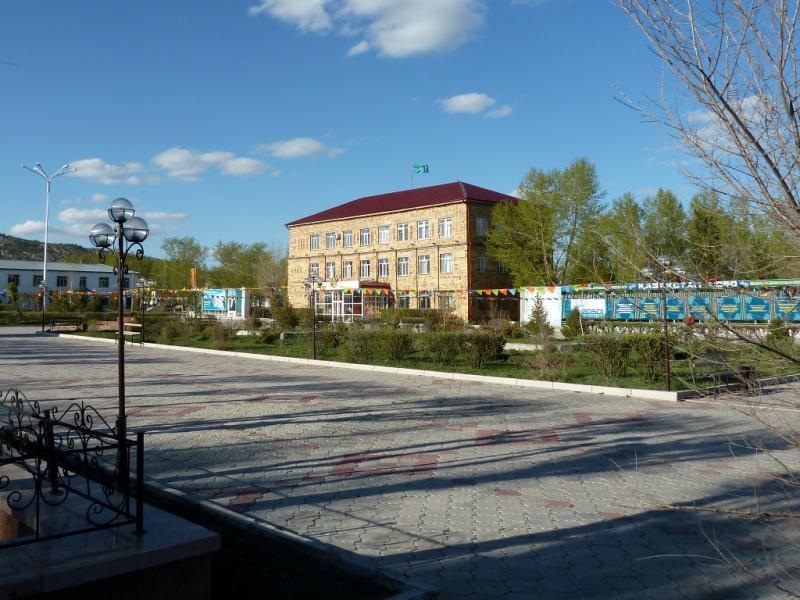 20130501. В Каркаралинске, на главной улице города.